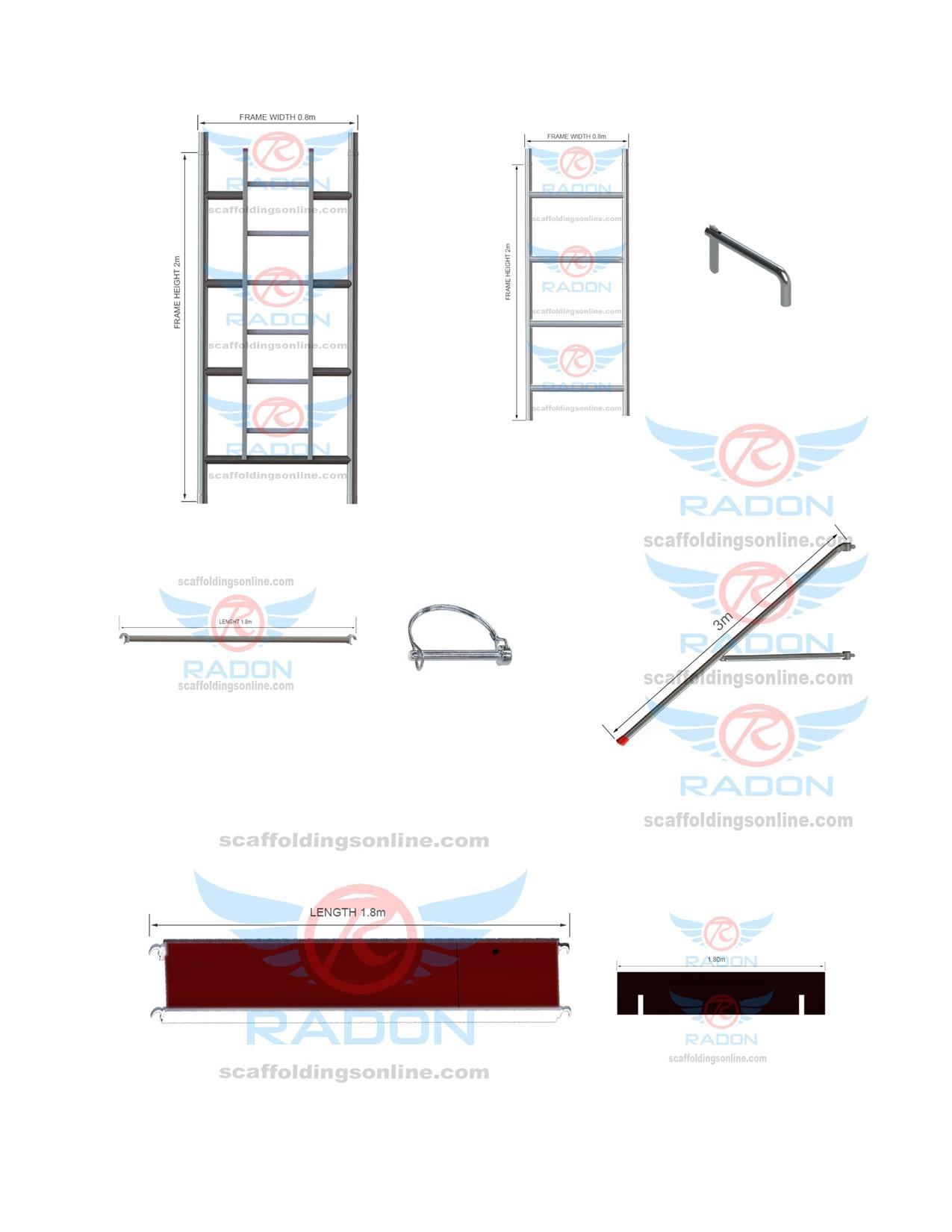 0.80m x 1.80m (Accessories)