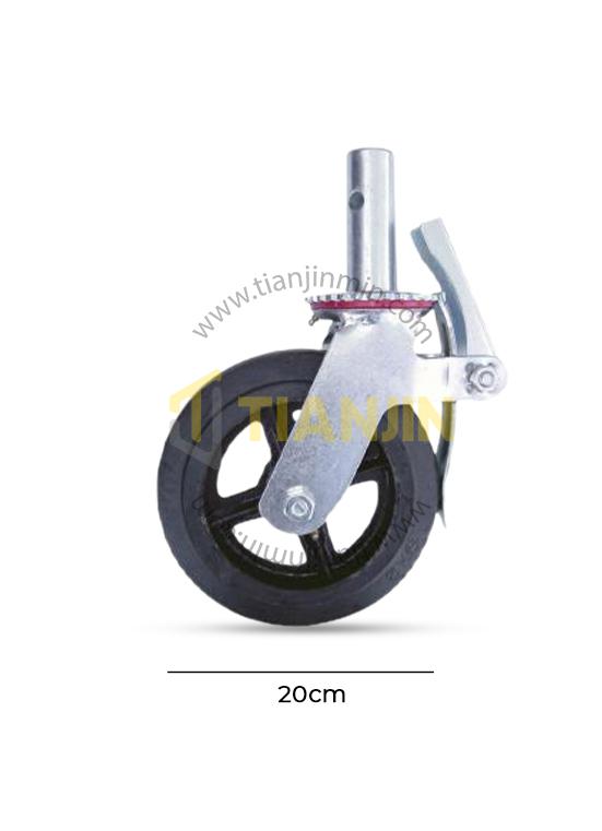 20cm Rubber Caster Wheel