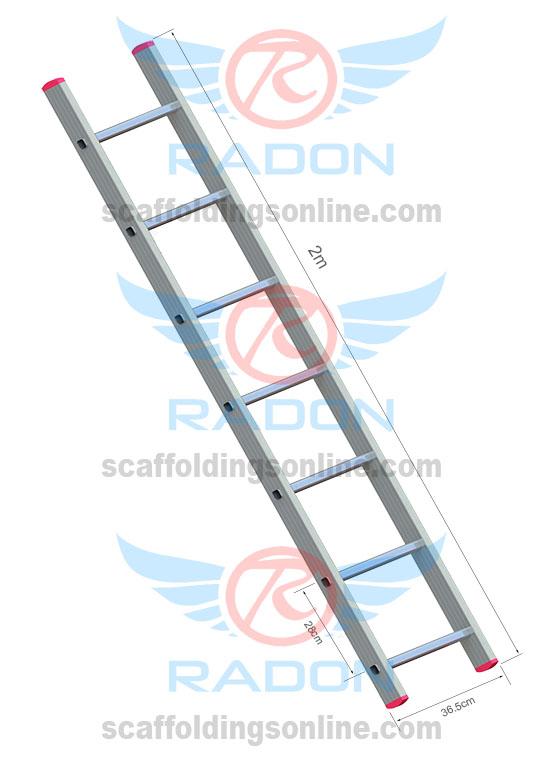 Aluminum Straight Ladder 2.0m - 7 Steps