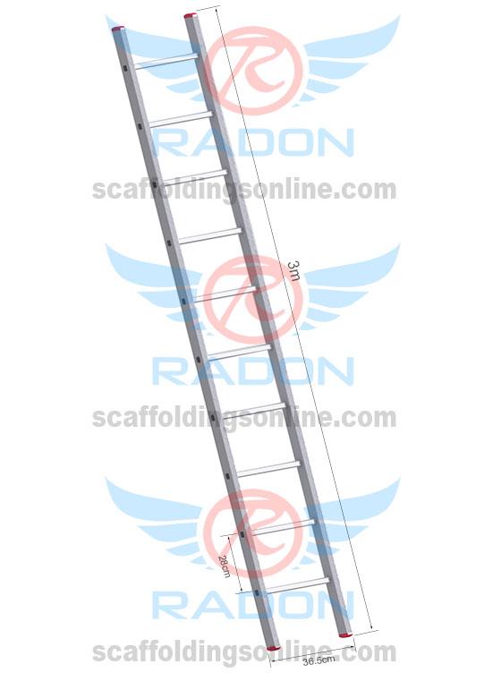 Aluminum Straight Ladder 3.0m - 10 steps