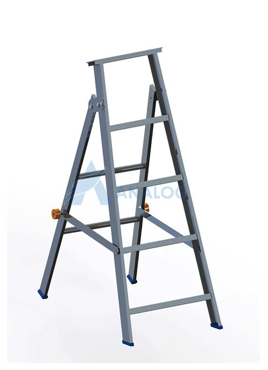 Aluminum Ladder - A Type 1mtr (4 steps)
