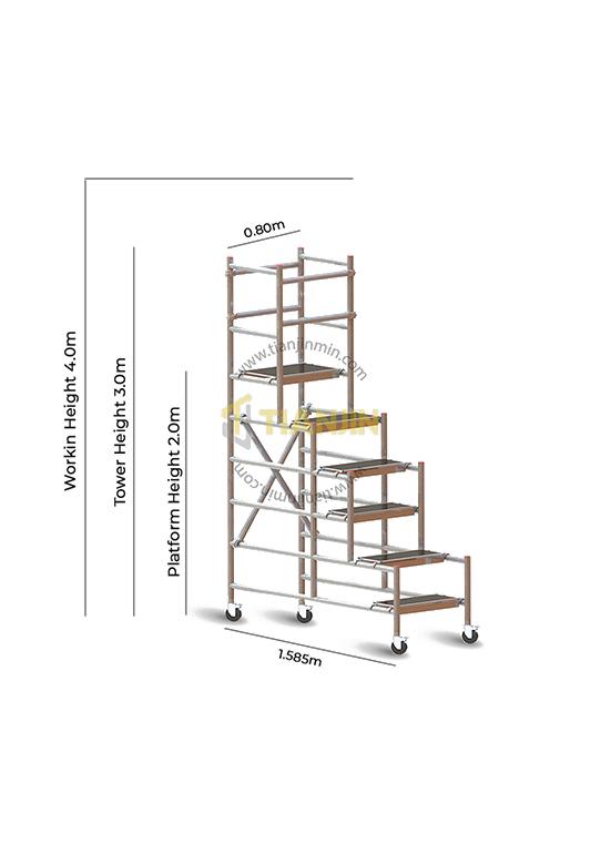 Aluminum Podium Tower 3.0M