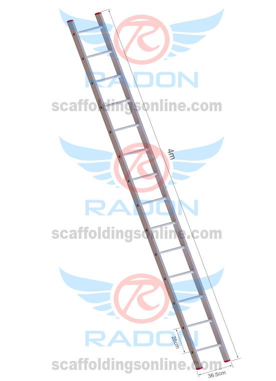 Aluminum Straight Ladder 4.0m - 14Steps