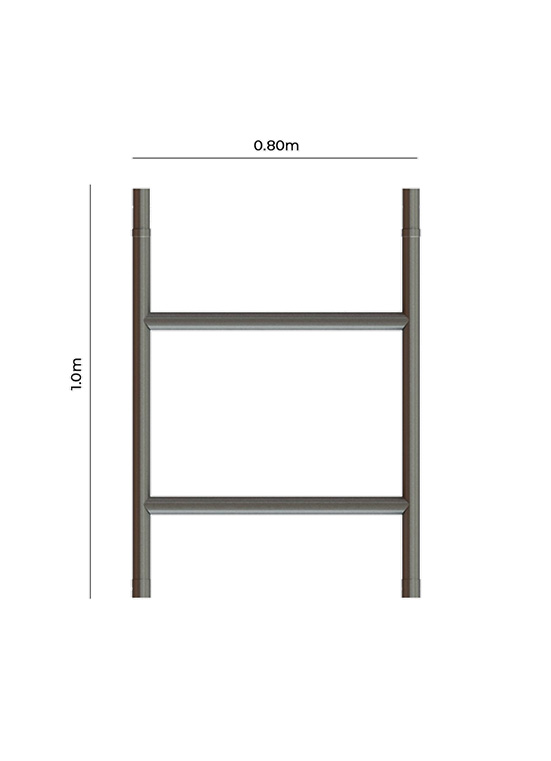 Single Width Span Guardrail Frame 1.0m Height