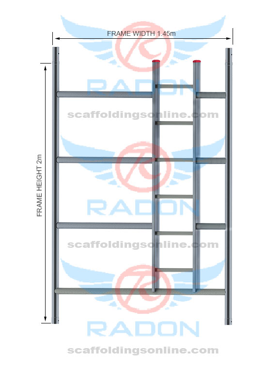 Double Width Ladder Frame 2.0m Height