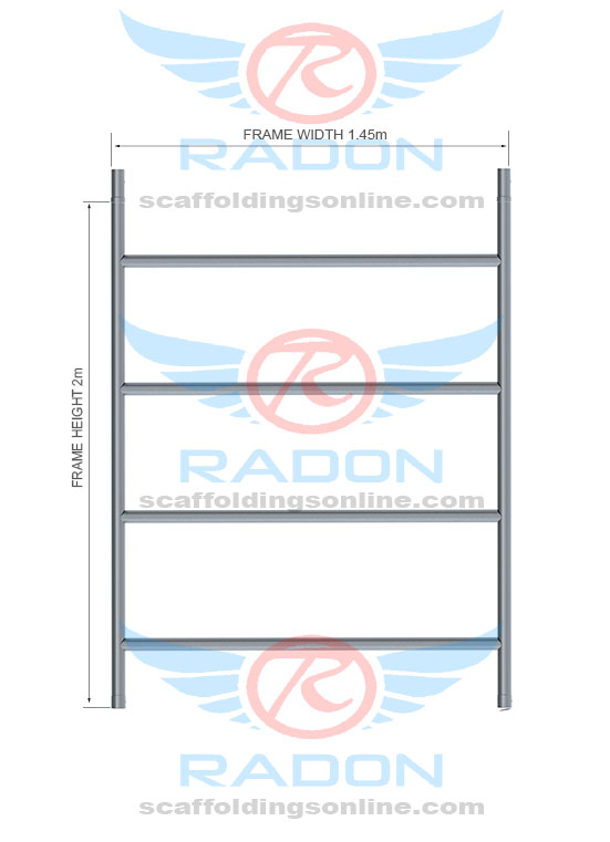 Double Width Span Frame 2.0m Height