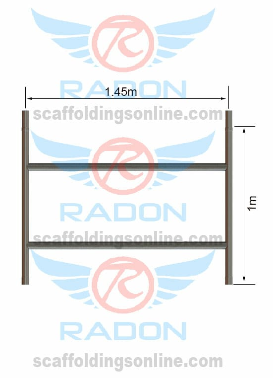 Double Width Span Guardrail Frame 1.0m Height